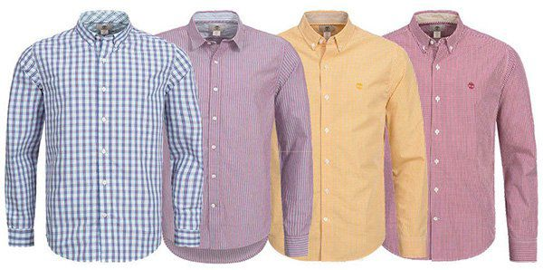 Timberland Karo Herren Langarm Hemden für je 32,99€