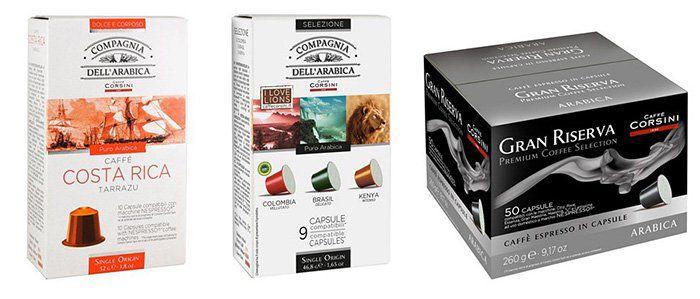 Caffè Corsini Sale mit Kaffee  und Teekapseln   z.B. 100 Arabica Gran Riserva Kapseln ab 16€ (statt 27€)