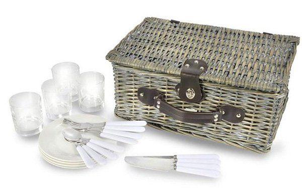 Picknickkorb mit Geschirr + Besteck für 2 Personen nur 24,99€ (statt 29€)   oder 4 Personen nur 29,99€ (statt 40€)