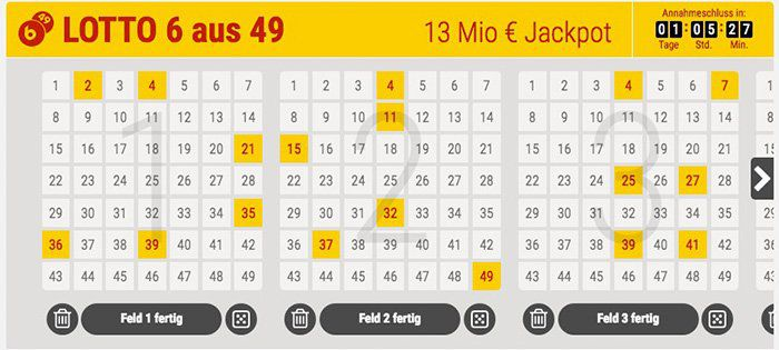 TOP! 6 Lottofelder 6 aus 49 für nur 1€ (Jackpot 13 Mio.)   für Tipp24 Neukunden!