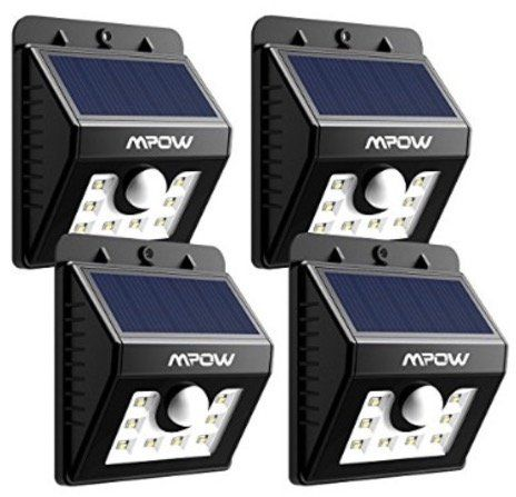 40% Rabatt auf Mpow LED Solarleuchten + Bewegungsmelder
