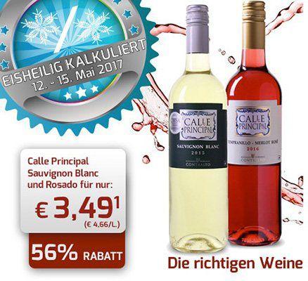 Calle Principal Rosado 2016 oder Calle Principal Sauvignon Blanc 2015 für je 3,49€ statt 7,99€ (6 Flaschen MBW)