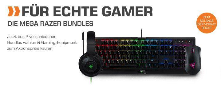 Günstige Razer Gaming Bundle bei Saturn   z.B. Headset + Tastatur + Maus für 150,99€ (statt 262€)