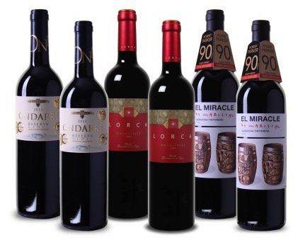 6 Flaschen prämierte spanische Weine für 34,94€
