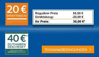 Krups XN1001 Inissia Nespresso Kapselmaschine für 40,95€ (statt 67€) + 40€ Nespresso Guthaben   effektiv nur 0,95€!