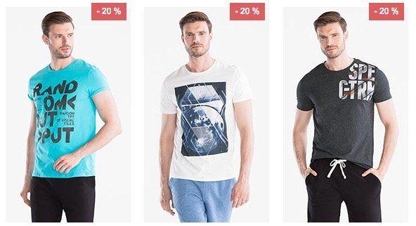 C&A mit 20% auf Damen und Herren T Shirts + 10% Gutschein + VSK frei