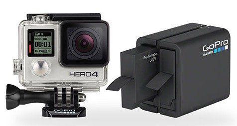 GoPro HERO4 Silver mit Dual Ladegerät für 230€ (statt 413€)   refurbished