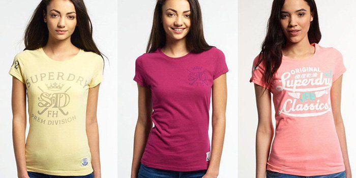 Superdry Damen und Herren T Shirts   54 Modelle für je 14,95€