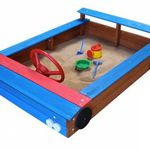 Sandkasten in Auto-Form aus Holz mit Stauraum für 69,95€ (statt 79€)