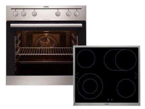AEG EEMX321210 Einbauherd Set mit Glaskeramik Kochfeld für 448€ (statt 598€)