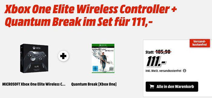 Xbox One Elite Controller + Quantum Break für 111€ (statt 147€)