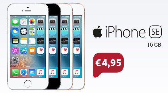 Blau (o2) Allnet Flat mit 4GB LTE + iPhone SE 16GB nur 19,99€ mtl.