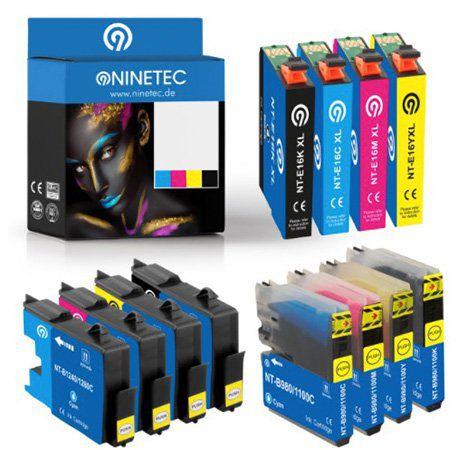 Ninetec Druckerpatronen Sets im 4er oder 5er Pack für je 9,99€