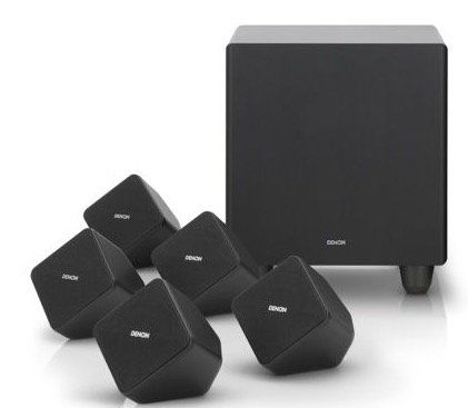 Denon SYS 2020   5.1 Heimkino Lautsprecher System mit aktivem Subwoofer für 119,90€ (statt 184€)