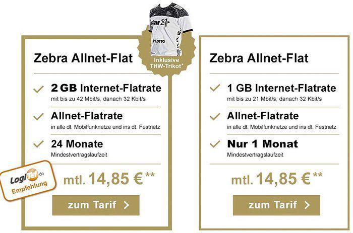 Telekom Tarife mit 1GB oder 2GB ab 9,95€ mtl. + ggf. gratis THW Trikot   mit 1 oder 24 Monaten Laufzeit!