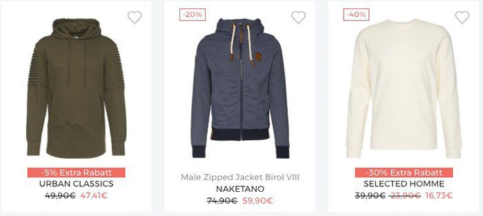 Bis zu 30% Rabatt auf Sweatshirts und Jacken bei About You + VSK frei