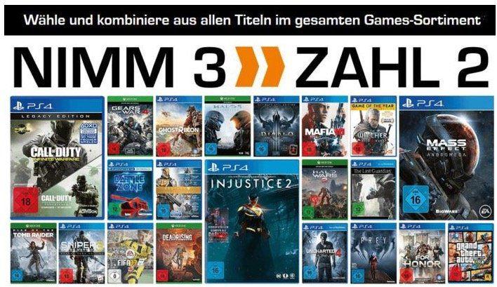 Abgelaufen! 3 Games kaufen und nur 2 bezahlen   günstige Games für viele Konsolen und PC