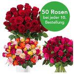37 Rosen in Überraschungsfarbe für 22,94€ + jede 10. Bestellung mit 50 Rosen