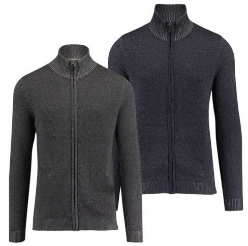 Tom Tailor Herren Strickjacke Modern Plated Zip Jacket für 19,90€ (statt 30€)