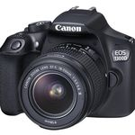 Canon EOS 1300D Spiegelreflex + 18-55mm DFIN Objektiv + Speicherkarte + Tasche für 329€ (statt 384€) + 25€ Cashback