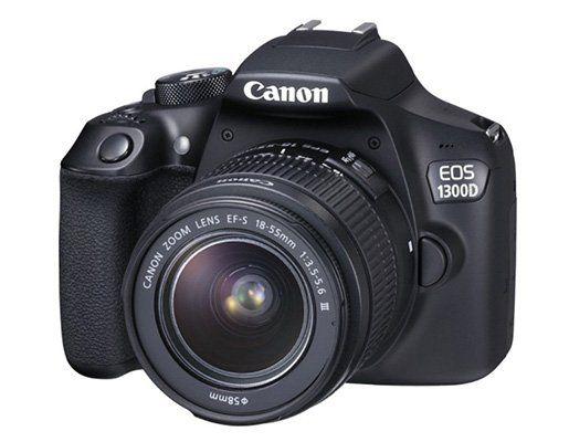 Canon EOS 1300D Spiegelreflex + 18 55mm DFIN Objektiv + Dreibein für 292,99€ (statt 333€)