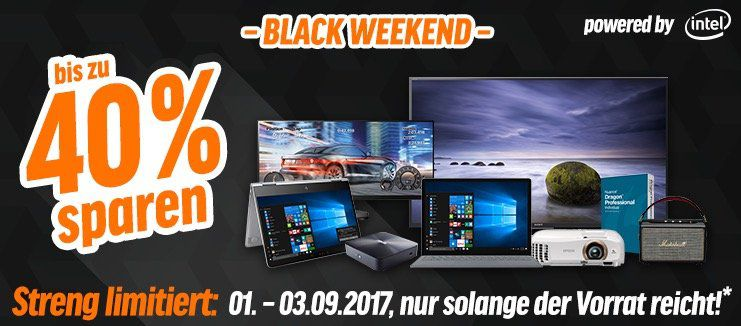 Bis zu 40% Rabatt beim Notebooksbilliger Black Weekend   z.B. HP 15 bs059ng Notebook für 389,64€ (statt 478€)