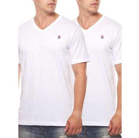 2er Pack U.S. POLO ASSN. V Neck Herren T Shirts für 14,99€
