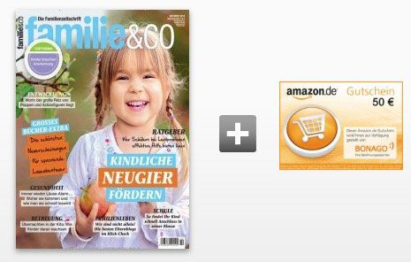 14 Ausgaben familie & co für 70,70€ + 50€ Scheck oder Amazon Gutschein