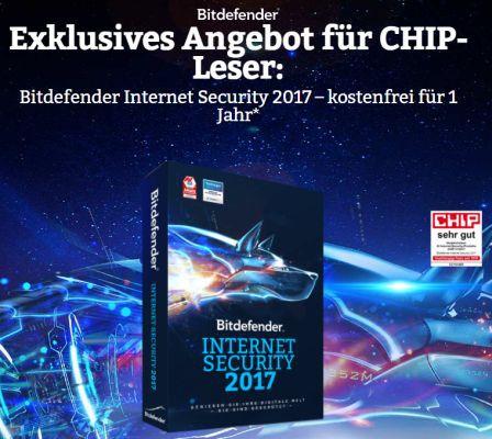 Bitdefender Internet Security 2017 1 Jahr gratis