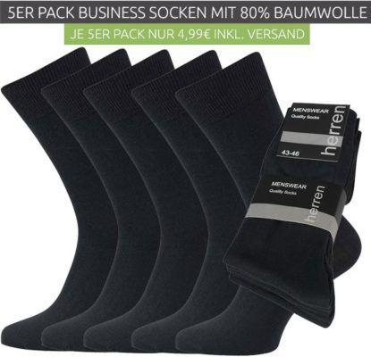 CNB Menswear   5er Pack Herren Business Socken für nur 4,99€