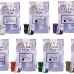 Celeste d'Oro Probierpaket – 100 Kapseln Nespresso kompatible + gratis Kapselhalter + Untersetzer für 29,99€