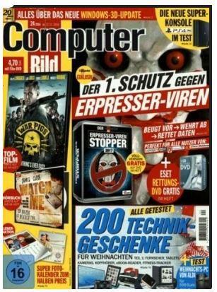 Computer Bild Jahresabo (26 Ausgaben) inkl. DVD für 136,50€ inkl. 120€ Amazon Gutschein