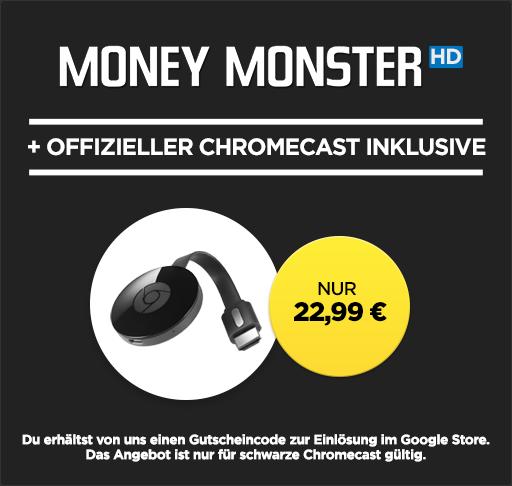Google Chromecast 2 + HD Stream: Money Monster für 21,99€
