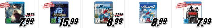 Media Markt: 3 Blu rays für 15€
