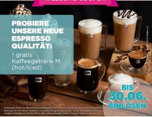 Gratis Kaffee bei Dunkin Donuts (App erforderlich)