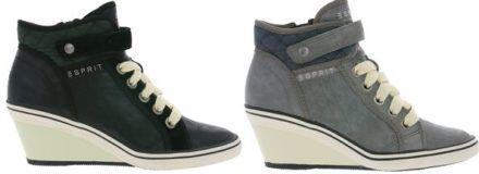 Esprit Damen Sneaker mit Keilabsatz für 24,99€