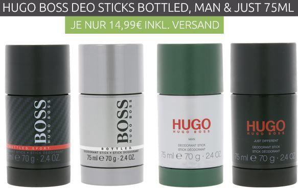 Hugo Boss Bottled Sport Herren Deo Stick 75 ml für 14,99€