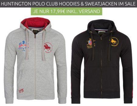Huntington Polo Club Zip Hoodies Restgrößen für nur 17,99€