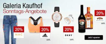 Galeria Kaufhof Sonntagsangebote   z.B. 20% Rabatt auf Kuscheltiere von Steiff, Sportwäsche, Liköre,    18% auf Lego Star Wars uvm....