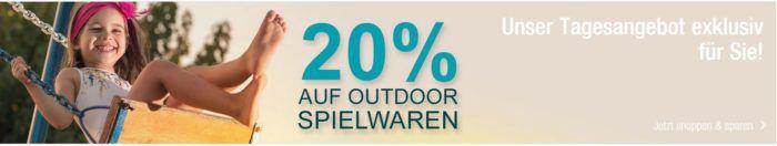 Galeria Kaufhof Dienstag Angebote: heute 20% Rabatt auf Outdoor Spielwaren
