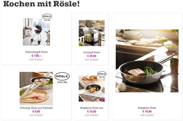 Mömax Rösle Sale: z.B. 6 teiliger Messerblock für 33,85€