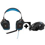 Vorbei! Logitech Gamingbundle mit G430 Headset + G502 Gaming-Maus für 59€ (statt 108€)