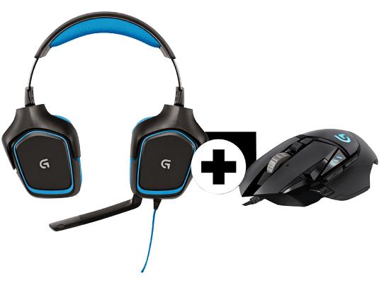 Logitech Gamingbundle mit G430 Headset + G502 Gaming Maus für 55€ (statt 106€)