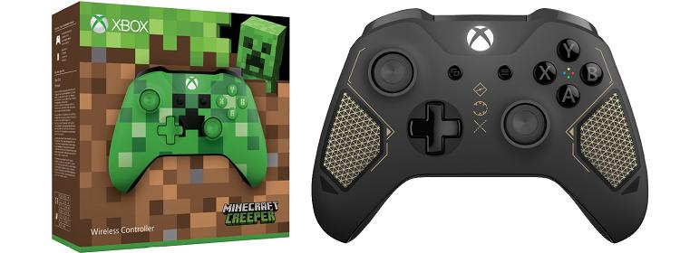 Microsoft Xbox One Wireless Controller (Minecraft Creeper oder Recon Tech) für je 42€ (statt 54€)