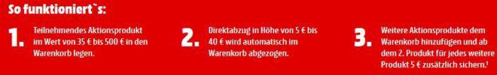 TOP! Media Markt: Mehr kaufen, mehr sparen   Rabatte dank Direktabzug bis zu 40€