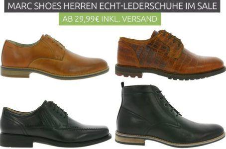 the latest e463c 8a94f Marc Shoes - Echtleder Herrenschuhe Restgrößen für 29,99€