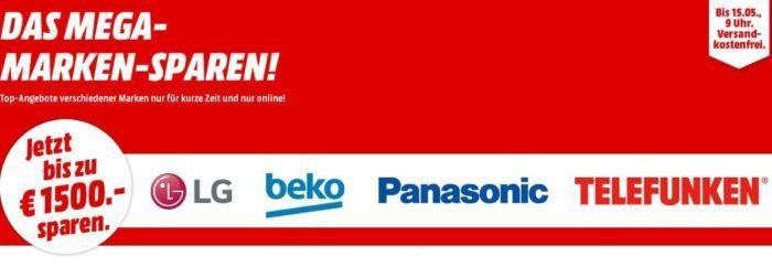 Neues Media Markt Marken Sparen: günstige Geräte von LG, beko, Panasonic und Telefunken