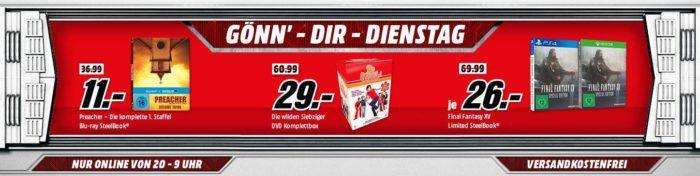 Final Fantasy XV (Limited Steelbook Edition) [Xbox One, PS4] für 26€   uvam. im Media Markt Dienstag Sale