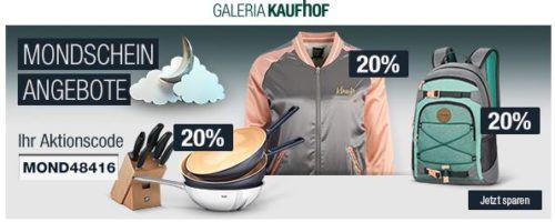 20% Rabatt auf Rucksäcke von Dakine und Parkland, Pfannen, Messer & Co. uvam.   Galeria Kaufhof Mondschein Angebote