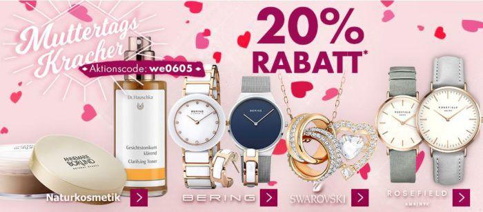 Karstadt [Muttertags] Kracher mit z.B. 20% auf Jack Wolfskin, Kinderschuhe, ausgewählte Uhren und Schmuck